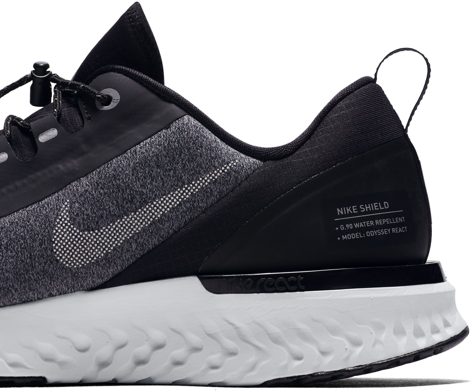 bfd6a7a3a443 Nike Odyssey React Shield Running Shoes Men black at Bikester.co.uk